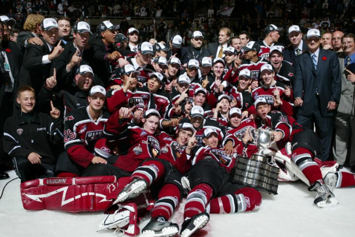 The 2007 Memorial Cup Champion Vancouver Giants. Photo: WHL Archives
