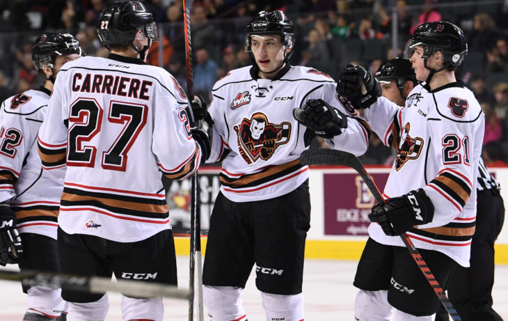 The Hitmen power play has jumped to first in the league thanks to three PP goals Wednesday