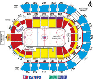 Spokane Arena map