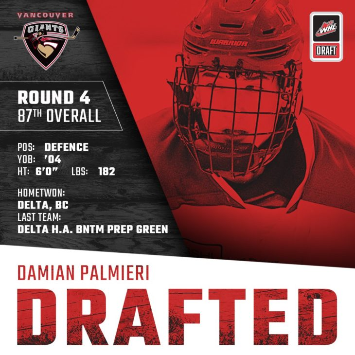 PALMIERI DRAFTED
