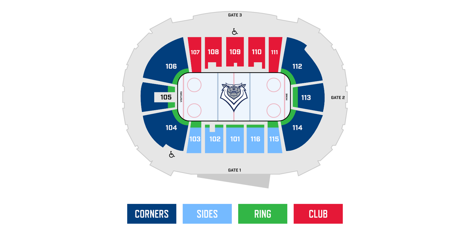 Seating Map Victoria Royals