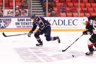 Defenceman Aaron Hyman of the Tri-City Americans. Photo: Doug Love