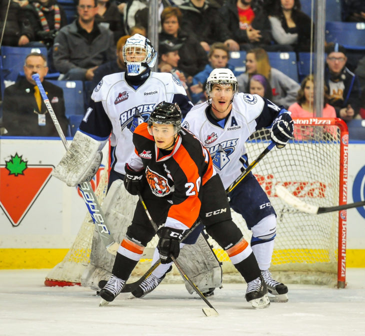 The Saskatoon Blades host the Medicine Hat Tigers in the first round of the 2013 WHL Playoffs.