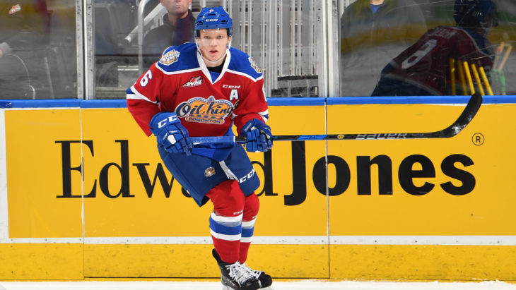 Edmonton Oil Kings defenceman Wyatt McLeod is from Dawson Creek, B.C. Photo: Edmonton Oil Kings