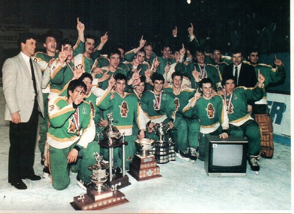 The 1985 Memorial Cup champion Prince Albert Raiders. Photo: WHL Archives